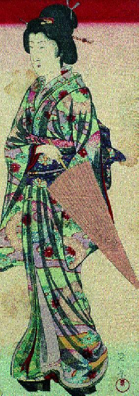Retratos de un samurai y una bijin (belleza femenina) 2