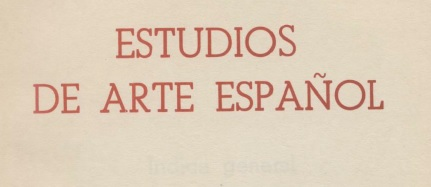 Nueva Publicación Disponible: ESTUDIOS DE ARTE ESPAÑOL, 1974
